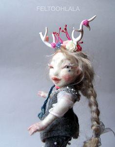 art doll Rosebud by FELTOOHLALA.