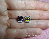 Earrings Batman DC comics - cute kawaii