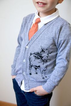 I HAVE TO DO THIS IN MY SIZE!!!!!!!!!!!GOAT cardigan . by Lund Studios by LundStudios on Etsy