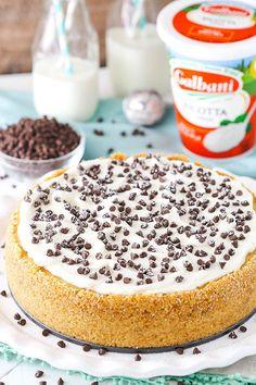 Cannoli Cheesecake - Life Love and Sugar