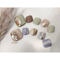 Gel Pedicure, Pedicure Designs, Manicure, Nail Designs, Japanese Nail Design, Japanese Nail Art, Pretty Toe Nails, Pretty Toes, Swag Nails