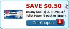 New Coupon!  Save $0.50 on any ONE (1) COTTONELLE® Toilet Paper (6-pack or larger) - http://www.stacyssavings.com/new-coupon-save-0-50-on-any-one-1-cottonelle-toilet-paper-6-pack-or-larger-2/