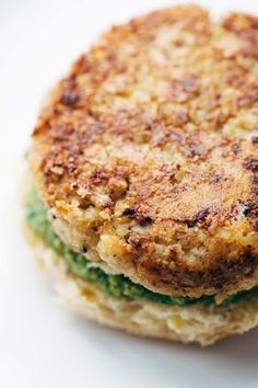Spicy Cauliflower Burgers - meatless and delicious.   pinchofyum.com