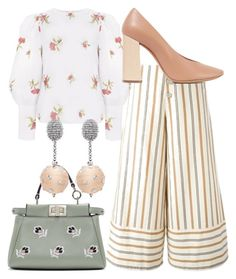 """""""Spring Into Step"""" by fashionforwarded ❤ liked on Polyvore featuring See by Chloé, Chloé, Fendi and Oscar de la Renta"""