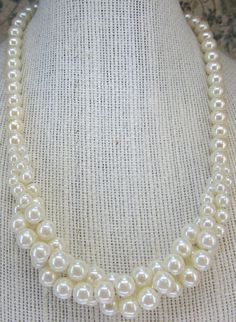 Vintage Jewelry Avon Necklace Faux Pearl With a Twist with box by DLSpecialties