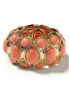 Tropical cabochon bracelet
