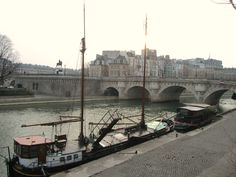 Paris, France - walk along the banks of the Seine river