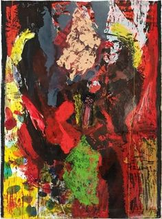 JIM DINE Long, Very Long in the Tooth 2015 Woodcut with collage and hand painting 67-1/8″ x 49-1/2″ (170.5 x 125.5 cm) Edition of 10 Jonathan Novak Contemporary Art, Los Angeles http://novakart.com/artists/jim-dine/