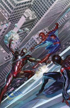 The Amazing Spider-Man, Ultimate Spider-Man and Iron Man ( by Alex Ross) Iron Man Marvel, Hq Marvel, Marvel Comics Art, Marvel Comic Books, Marvel Heroes, Marvel Characters, Comic Books Art, Captain Marvel, Amazing Spiderman