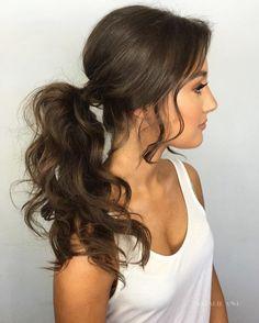 Bouffant Ponytail For Long Hair