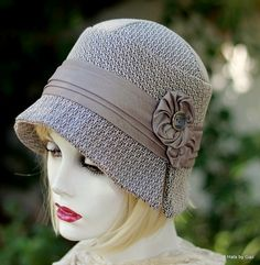 A cloche hat in a textured tweed fabric that can be worn with a modern or vintage style wardrobe. This hat is made from a designer textured fabric in several shades of beige, taupe and chocolate brown. The hat is detailed with a taffeta ple. Hat Patterns To Sew, Love Hat, Hats For Women, Ladies Hats, Vintage Fashion, Vintage Style, Vintage Hats, Diana, Winter Hats
