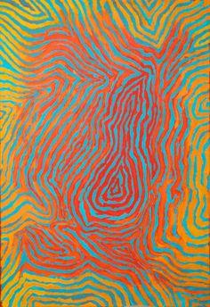 by Australian Aborigine artist, David Mudgedell Aboriginal Painting, Aboriginal Artists, Dot Painting, Encaustic Painting, Kunst Der Aborigines, Aboriginal Culture, Australian Art, Indigenous Art, Native Art