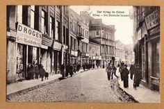 Wilna Postkarte I.Weltkrieg Deutschestraße mit Geschäften schöne Straßen Ansicht