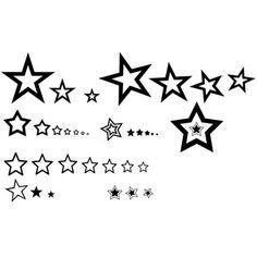 Tatouage étoiles diverses