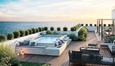 Rooftop Terrace Design, Rooftop Pool, Above Ground Pool Landscaping, Outdoor Landscaping, Devon House, Terrazzo, Pool Deck Plans, Island Villa, Jacuzzi Outdoor