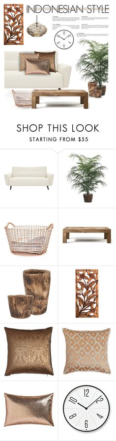 """INDONESIAN STYLE"" by defivirda ❤ liked on Polyvore featuring interior, interiors, interior design, home, home decor, interior decorating, Korbo, Flamant, NOVICA and Yves Delorme"