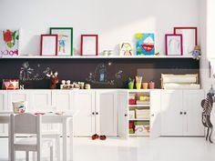 Die Bilderleisten von Ikea sind auch toll um Tonies dekorativ und ... | {Stauraum kinderzimmer 54}