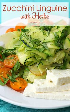 """Use #zucchini as your """"noodles"""" in this summery #vegetarian meal."""