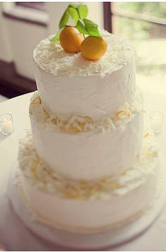 lemon cake #wedding