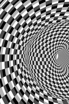 Op art: style of art that created optical illusions: