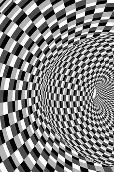 Op art: style of art that created optical illusions ❤️ ♡ ~ Ʀεƥɪииεð вƴ╭ Image Illusion, Illusion Art, Illusion Kunst, Tableau Pop Art, Psychedelic Art, Art Plastique, Fractal Art, Textures Patterns, Amazing Art