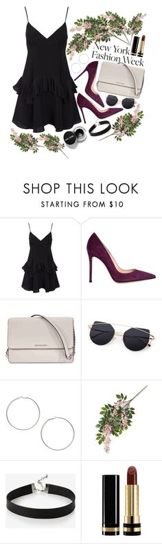 """Fw"" by maggdalene on Polyvore featuring Gianvito Rossi, Michael Kors, Miss Selfridge, Express, Gucci, NYFW, contest, fashionWeek and newyorkfashionweek"