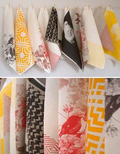 Stunning linen tea towels by Bonnie and Neil