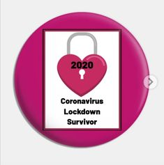 Pin-on Badge with design 'Coronavirus lockdown survivor 2020 - Pink' Well done on surviving all the challenges that you faced. Continue to use and improve the skills you learned and the inner strengths you have. Inner Strength, Badge, Challenges, Learning, Pink, Stuff To Buy, Design, Studying