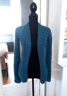 Het was even wat stiller hier. Had het afgelopen weken erg druk en totaal… Crochet Shirt, Crochet Cardigan, Diy Crochet, Long Cardigan, Crochet Shell Pattern, Free Pattern, Shrugs And Boleros, Crochet Fashion, Adele