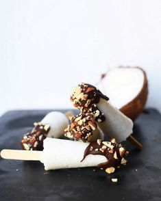 Mini Chocolate and Coconut Popsicles (vegan) | Posh Little Designs