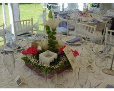 Fabulosos centros de mesa para boda