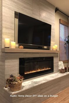 Home Fireplace, Living Room With Fireplace, Fireplace Design, Fireplace Ideas, Brick Fireplace, Linear Fireplace, Basement Fireplace, Modern Fireplaces, Bedroom Fireplace