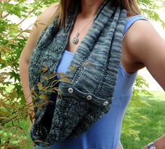 Ravelry: Button Up Lace Cowl and Fingerless Mitts pattern by Galzanne Knits