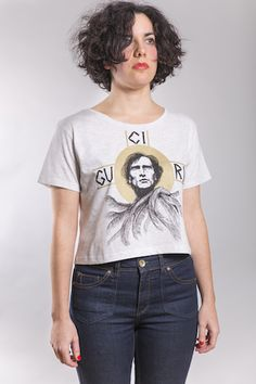 Artaud Crop Woman Melange White