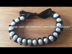 diy sieraden: easy lint armband / easy ribbon bracelet WITH ENGLISH CC! Diy Jewelry, Jewelry Making, Ribbon Bracelets, Wire Wrapping, Wraps, Easy, Youtube, How To Make, Leather