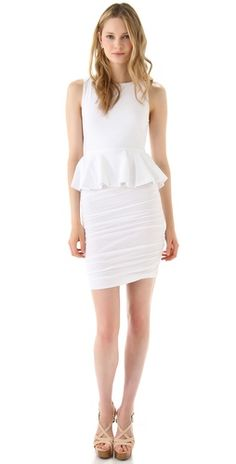 alice olivia  Peplum Tank Dress with Ruched Skirt
