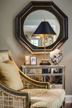 Pretty seating and vingette | McCroskey Interiors