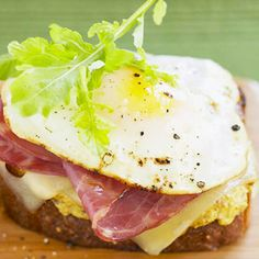 Eggs are easy to make when you don't have to flip them. Instead, when the whites are set, simply add a bit of water and cover the skillet until the yolks are done. Then serve them on this easy breakfast sandwich.