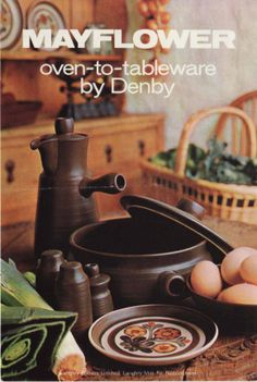 Denby. Mayflower. 1964. advertising from the Denby archive.