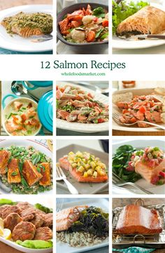 12 Salmon Recipes // From baking with a simple seasoning, to adding to soups, to transforming leftovers into amazing creations, there's almost no end to the ways you can prepare salmon. The main types of salmon you'll see at the store are sockeye, Coho and king, and the color can vary from light peach-colored to very dark pink. Each variety has a slightly different flavor, so be sure to ask your seafood monger for recommendations for your recipe.