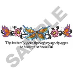 THROUGH MANY CHANGES embroidery design