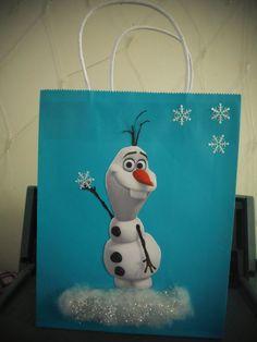 Disney Frozen OLAF Gift Bag Goodie Bag Handmade by EMYzTINYSHOP, $3.99