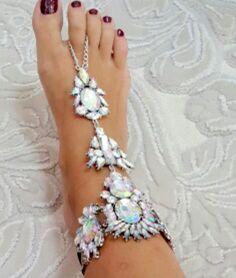 Jeweled Barefoot Sandals Crystal Foot Bracelet