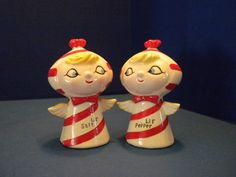 Holt Howard Candy Cane Pixie -  Lil Salt and Lil Pepper - Salt and Pepper Shaker Set of 2 - Near Mint! by ShakenRarelyStirred on Etsy https://www.etsy.com/listing/585425096/holt-howard-candy-cane-pixie-lil-salt