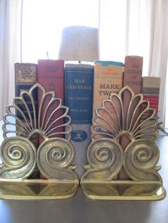 I love vintage bookends like these brass ones.