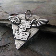 PMC Artisan Jewelry Handmade Fine Silver Pendant by SilverWishes