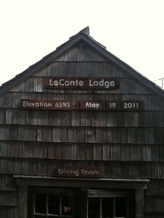 LeConte Lodge, at the top