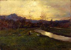 Delleani Lorenzo, Autunno dorato o Tramonto a novembre (effetti di luce).1904