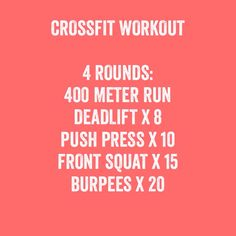 Quick CrossFit Workout. #health #fitness