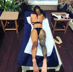sun, summer, and tattoo afbeelding
